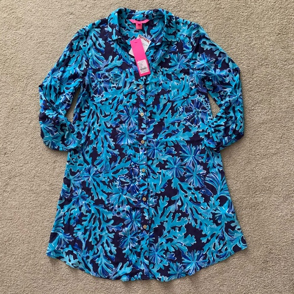 Lilly Pulitzer Natalie coverup swim in too deep